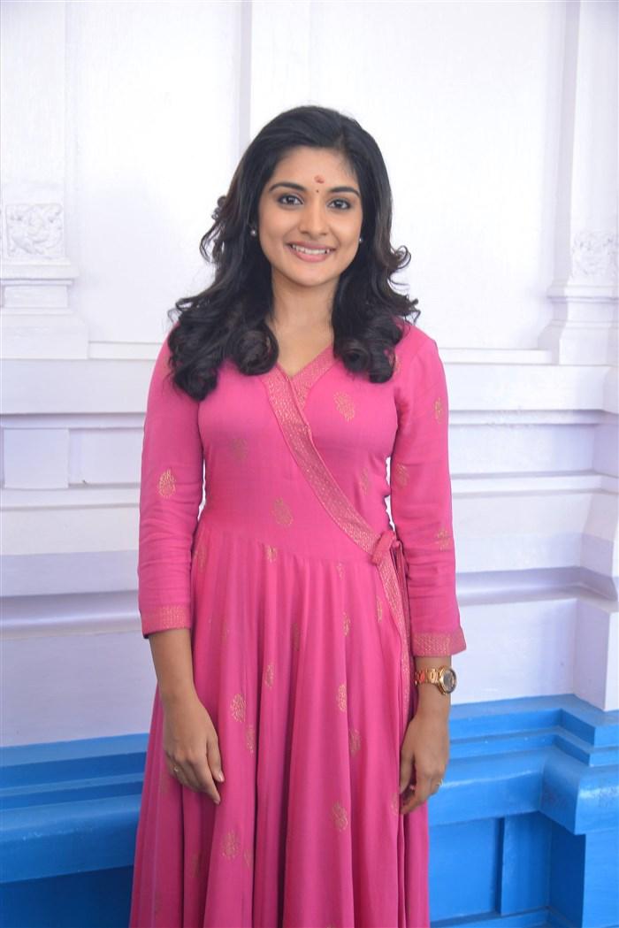 Actress Nivetha Thomas @ Nani Nivetha Aadhi New Movie Opening Stills