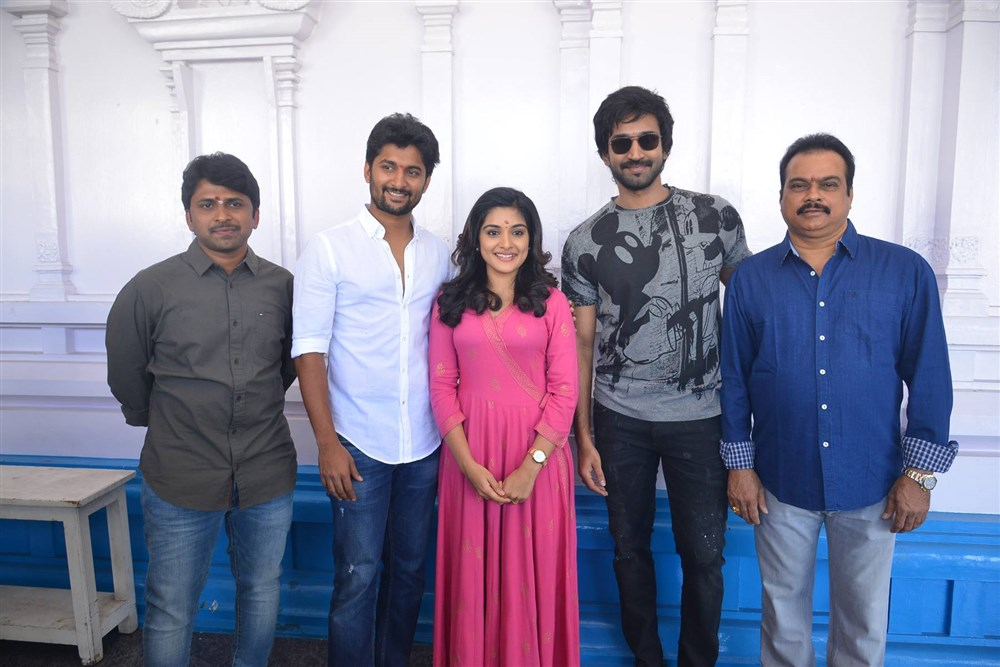 Nani Nivetha Aadhi New Movie Opening Stills