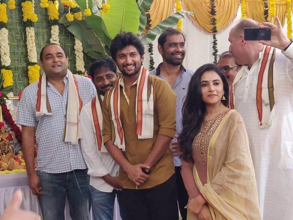 Actress Priyanka Arul Mohan @ Nani Vikram K Kumar Movie Pooja Stills