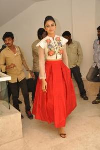 Actress Rakul Preet Singh @ Nannaku Prematho Movie Success Meet Stills