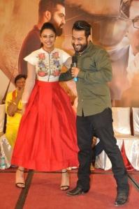 Rakul Preet Singh, NTR @ Nannaku Prematho Movie Success Meet Stills