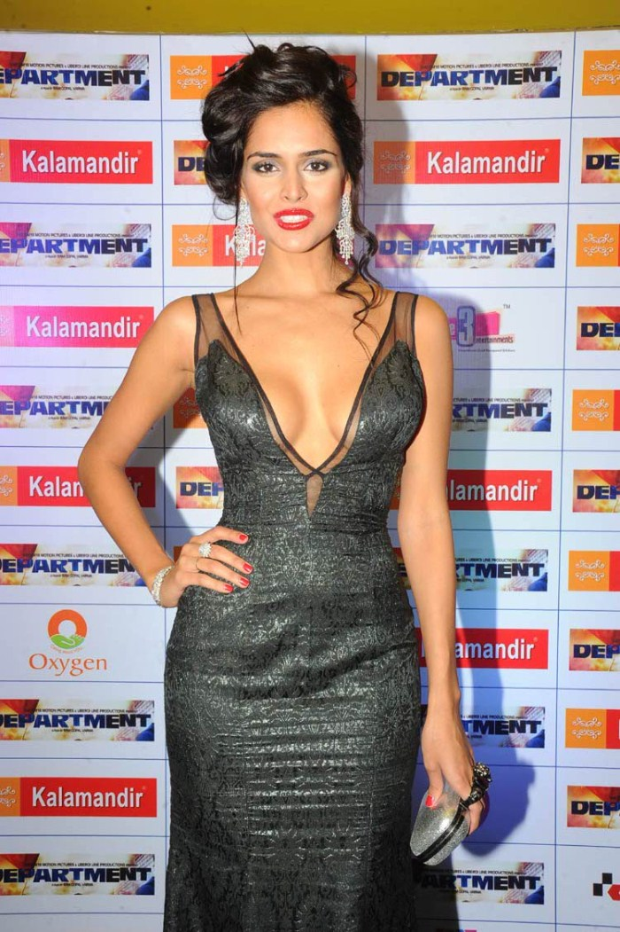 Spicy Nathalia Kaur at Department Movie Premiere Show