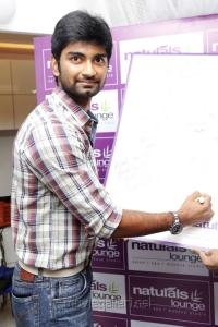 Actor Atharva at Naturals Lounge 250th Salon Launch Stills