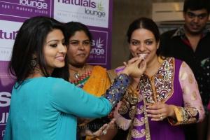Sneha, Kavitha Reddy @ Naturals Lounge 250th Salon Launch Stills