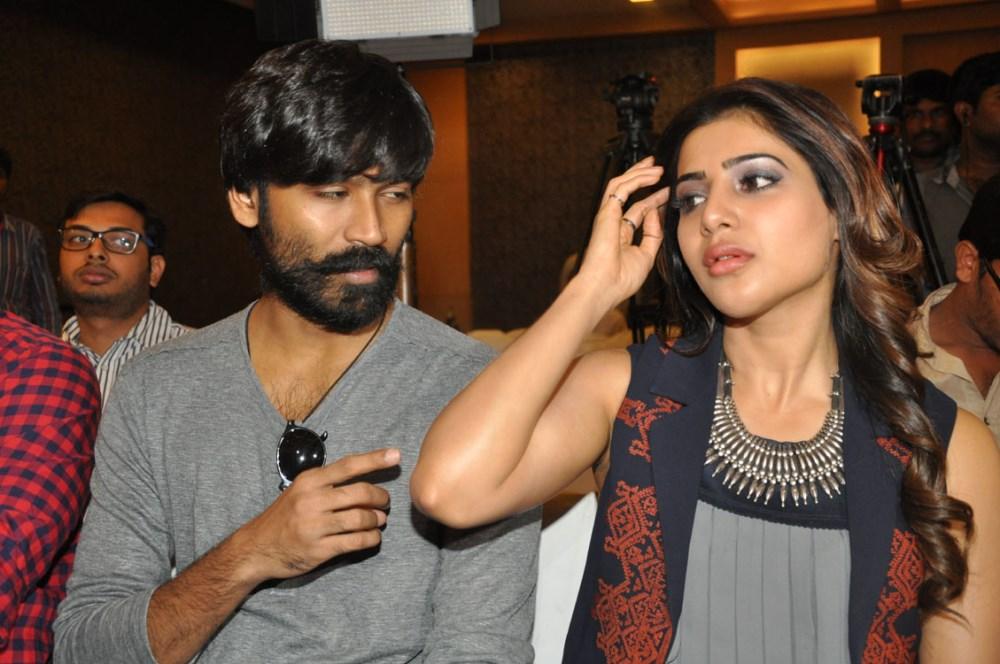 Dhanush, Samantha @ Nava Manmadhudu Movie Press Meet Stills