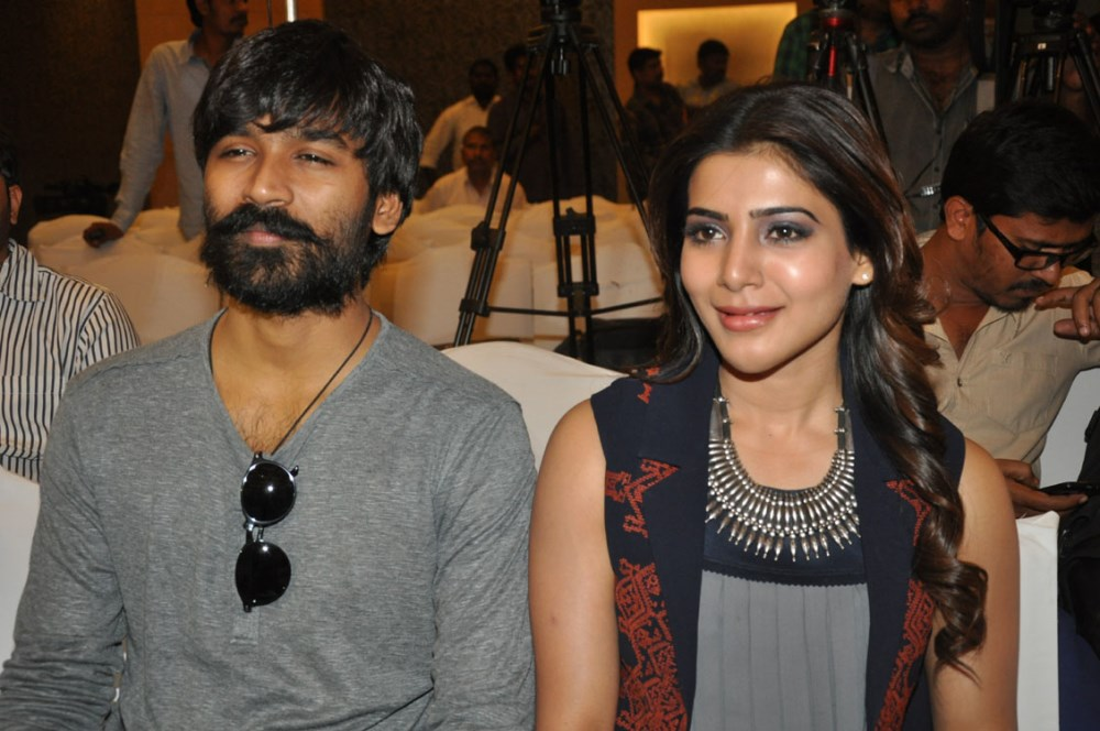 Dhanush, Samantha @ Nava Manmadhudu Movie Press Meet Stills