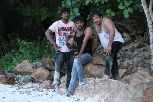 Rajkumar, Jai & Sathyan in Naveena Saraswathi Sabatham Movie Latest Photos