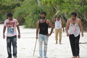 Rajkumar, Jai , Sathyan in Naveena Saraswathi Sabatham Movie Photos