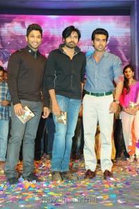 Allu Arjun, Pawan Kalyan, Ram Charan at Nayak Audio Release Stills
