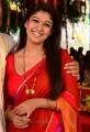 Beautiful Nayanthara Red Saree Images in Greeku Veerudu Movie