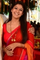 Beautiful Nayanthara Red Saree Images in Greeku Veerudu Movie