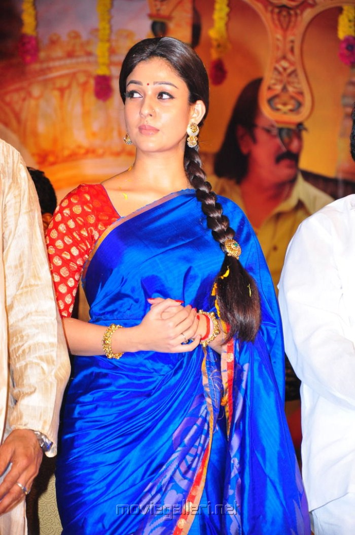 picture 50762 nayanthara blue saree photos new movie