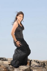 Tamil Actress Nayanthara in Black Dress Hot Stills
