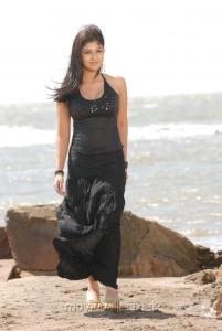 Actress Nayanthara Latest Hot Stills in Black Dress