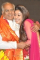 Actress Nayanthara with Akkineni Nageswara Rao