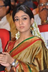Nayanthara in Traditional Silk Saree Stills