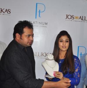 John Alukka, Nayanthara at Hyderabad Jos Alukkas Platinum Jewellery Collection Launch