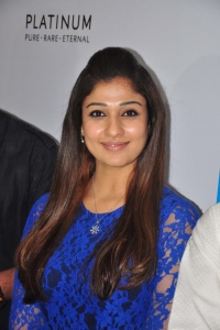 Actress Nayantara in Blue Outfit at Jos Alukkas, Hyderabad