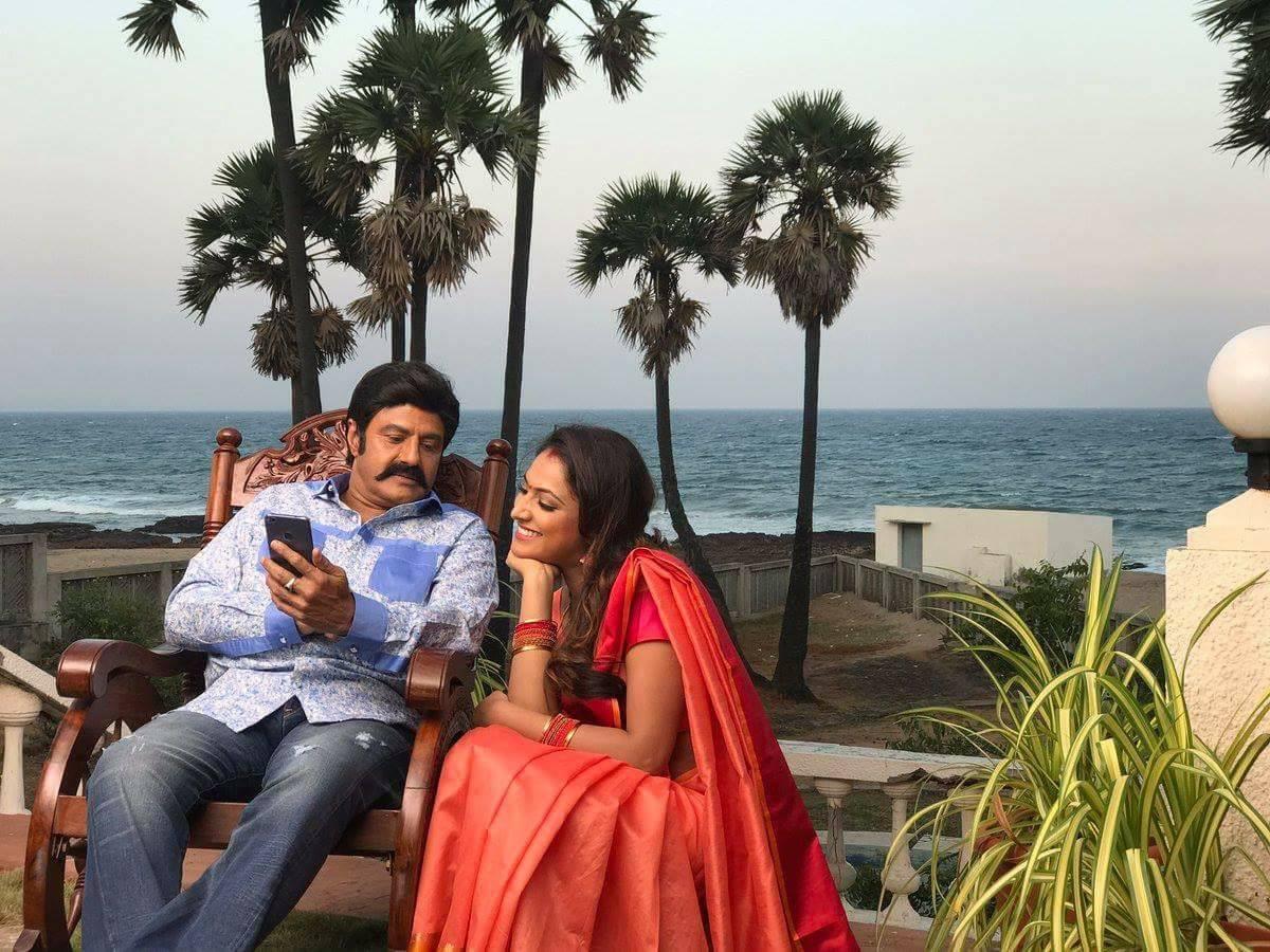 Balakrishna, Haripriya @ NBK102 Jai Simha Movie Sets Photos