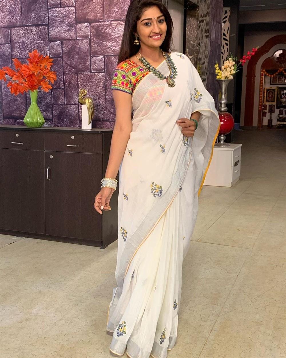 Actress Neelima Esai Saree Photos