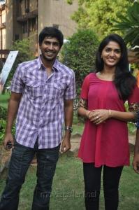 Vishnu, Sunaina at Neerparavai Press Meet Stills