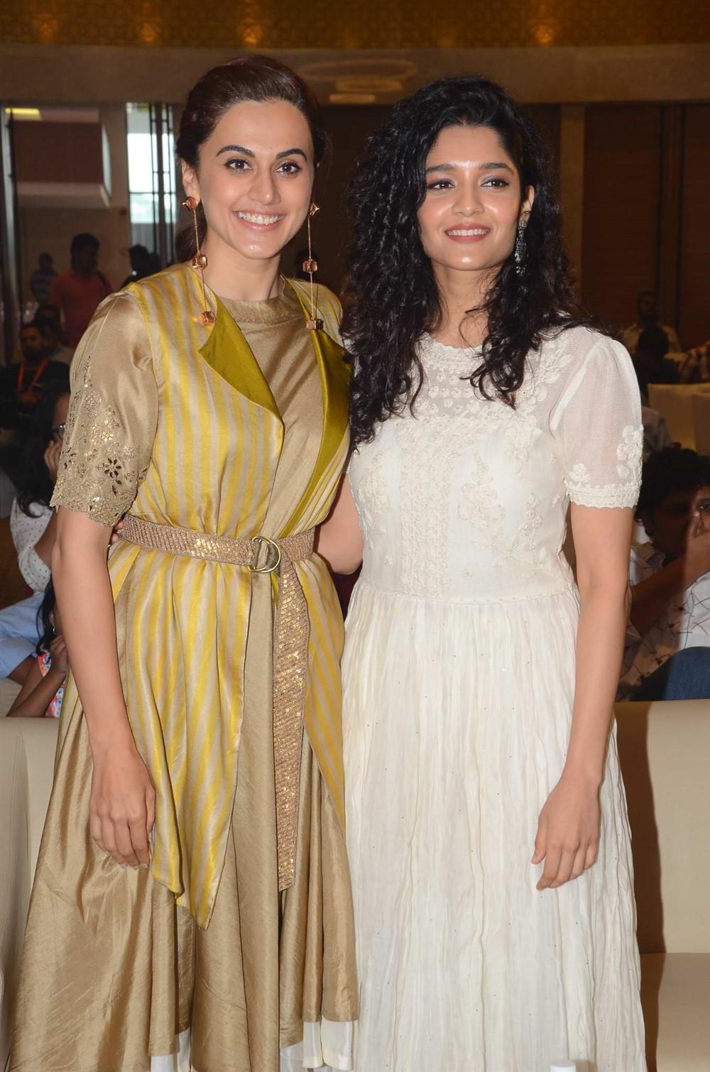 Taapsee Pannu, Ritika Singh @ Neevevaro Movie Press Meet Stills