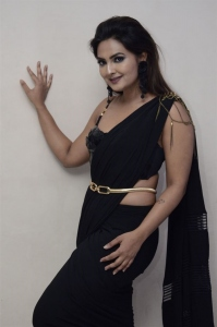 Neha Deshpande in Black Saree @ Psycho Teaser Launch