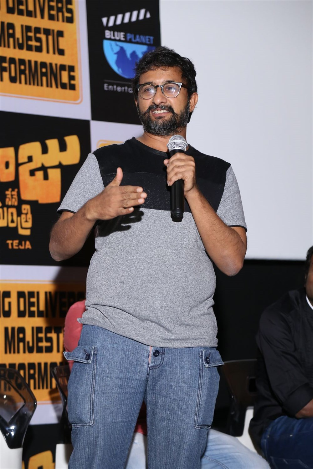 Director Teja @ Nene Raju Nene Mantri Movie Success Meet Photos