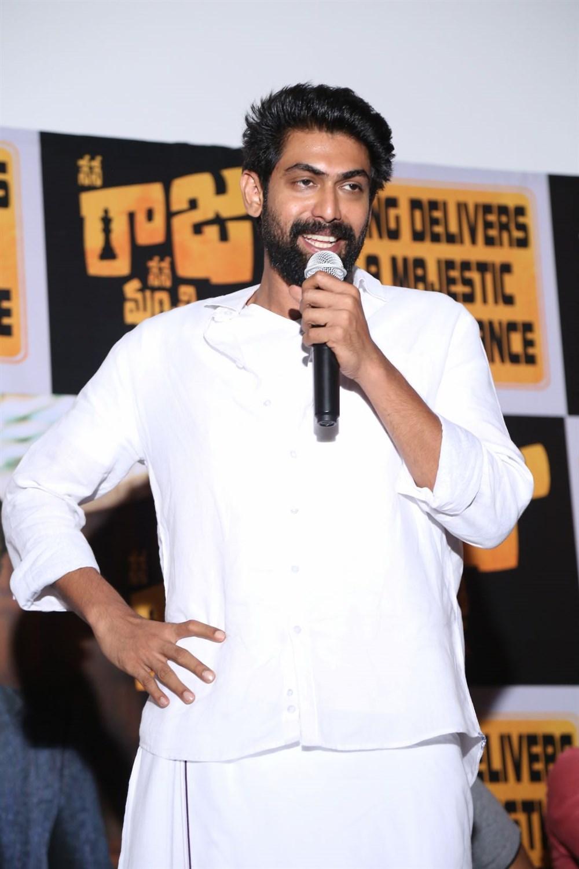 Actor Rana Daggubati @ Nene Raju Nene Mantri Movie Success Meet Photos