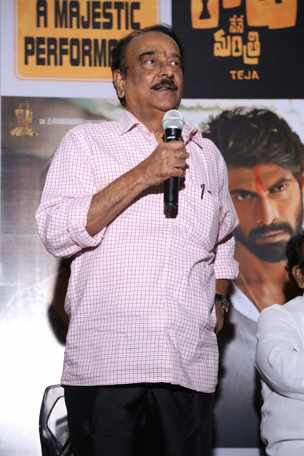 Paruchuri Venkateswara Rao @ Nene Raju Nene Mantri Movie Success Meet Photos