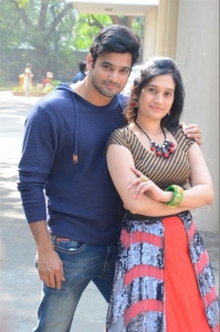 Surya Srinivas, Priyanka Pallavi @ Nenostha Movie Release Press Meet Stills