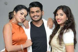 Bhavya Sri, Komali @ Nenu Seethadevi Movie Audio Launch Stills