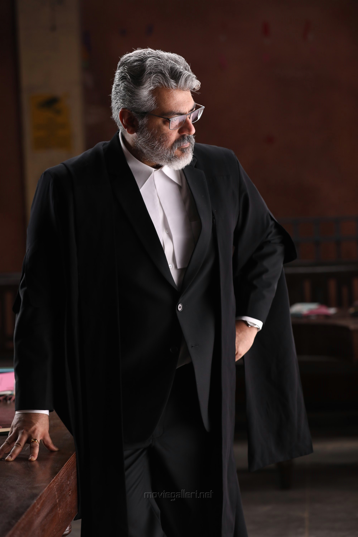Ner Konda Paarvai Ajith Lawyer Getup Photos HD