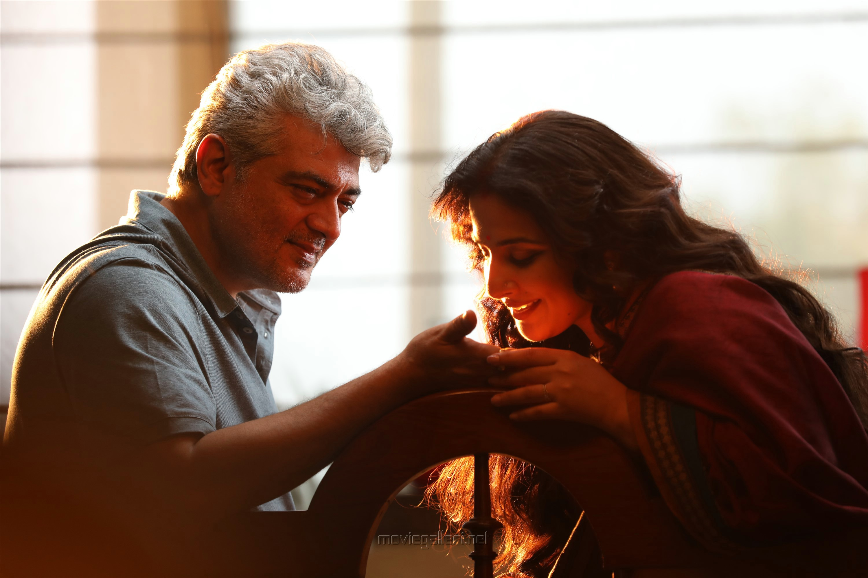 Ajith, Vidya Balan in Nerkonda Paarvai Movie HD Images