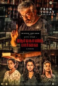 Ajith, Abhirami Venkatachalam, Shraddha Srinath, Andrea Tariang in Nerkonda Paarvai Movie Release Today Posters
