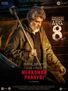 Ajith in Nerkonda Paarvai Movie Release Posters