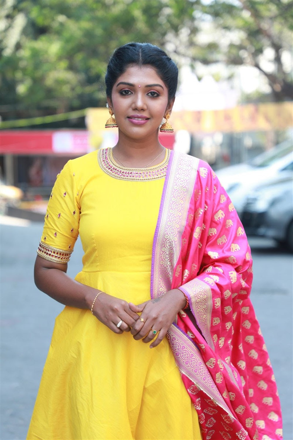 Actress Riythvika @ Nethra Movie Audio Launch Photos