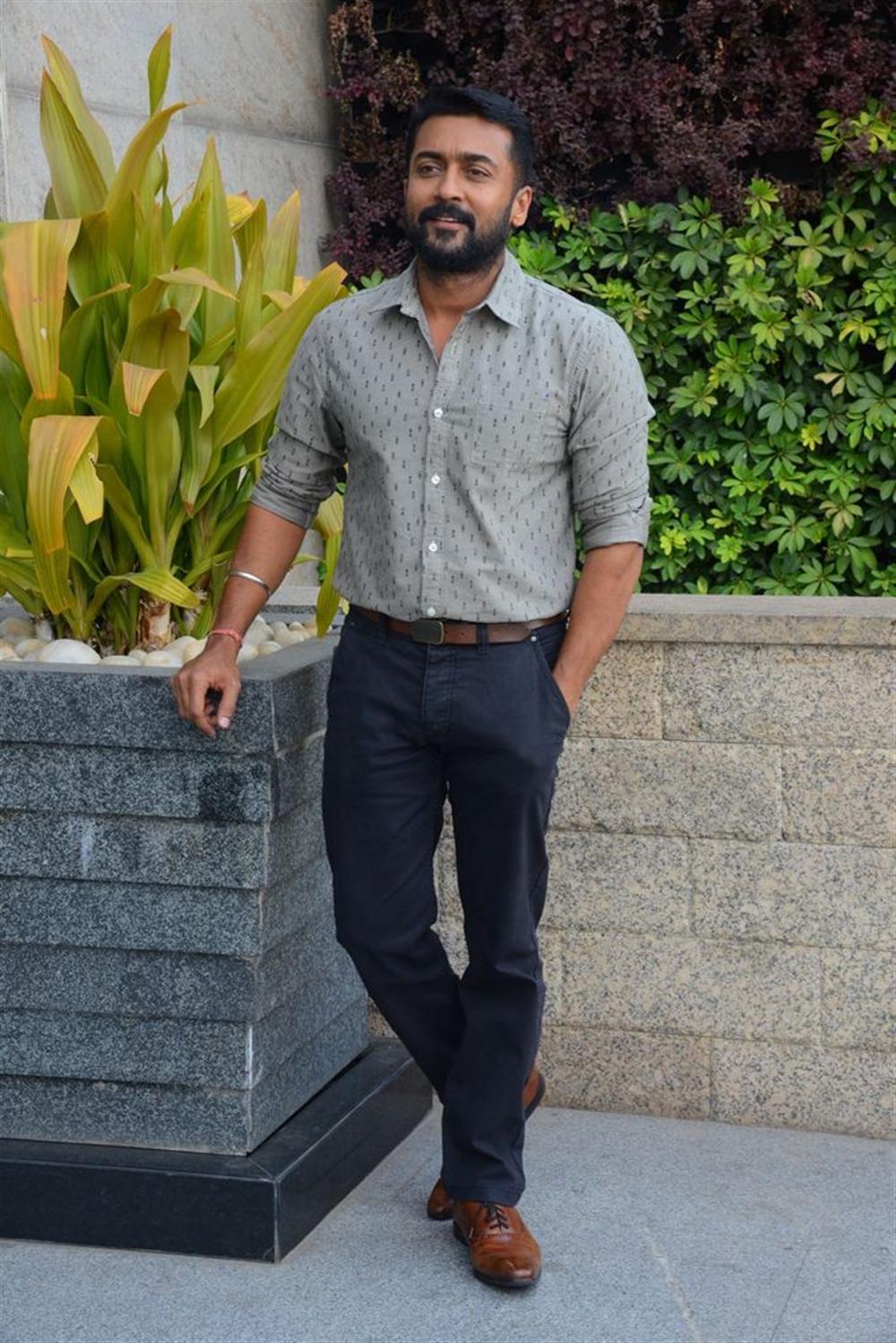 NGK Movie Actor Suriya Interview Stills