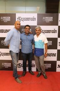 Sudhan Sundaram, Umesh, Jayaram @ Nibunan Movie Premiere Show Photos