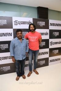 Inder Kumar @ Nibunan Movie Premiere Show Photos