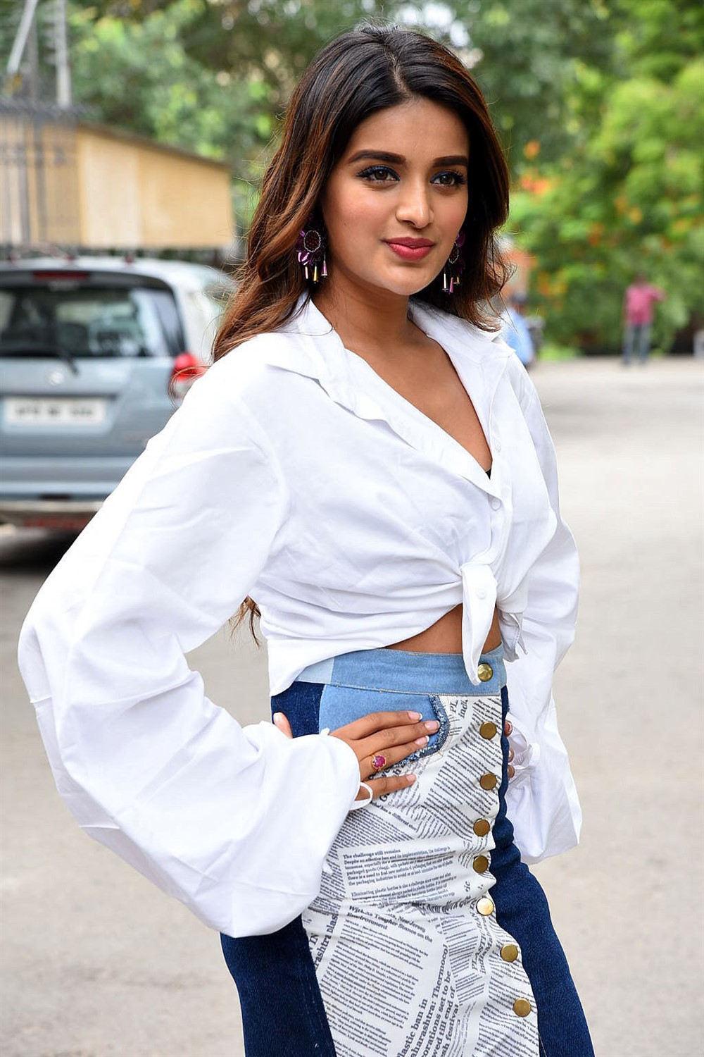Actress Niddhi Agerwal Photos @ iSmart Shankar Success Meet