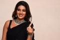 Actress Nidhhi Agerwal Black Saree Images @ iSmart Shankar Pre Release