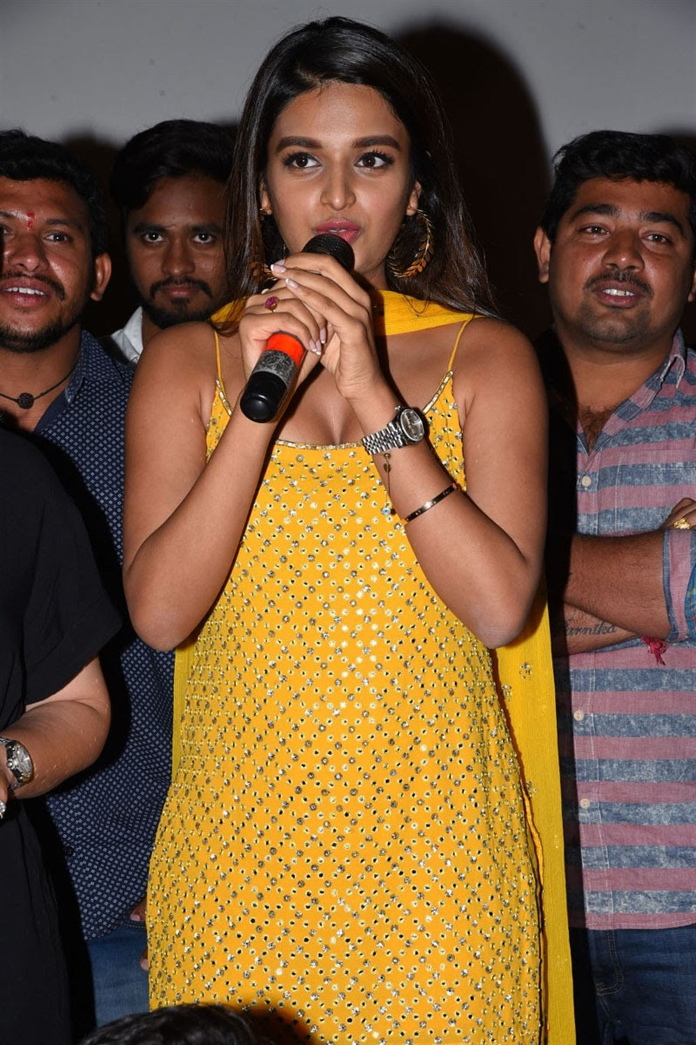 Actress Nidhi Agarwal Photos @ iSmart Shankar Success Tour