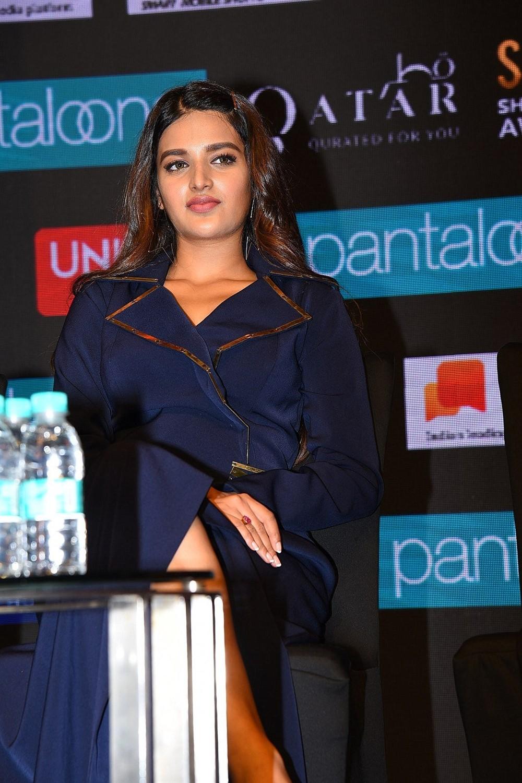 Actress Nidhhi Agerwal Stills @ SIIMA Awards 2019 Press Meet