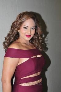 Actress Nikeesha Patel Latest Hot Images in Dark Pink Dress
