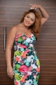 Actress Nikesha Patel in Floral Dress Stills