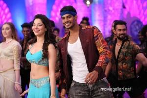 Hot Tamanna & Nikhil Kumar in Jaguar Movie Item Song Stills