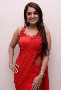 Actress Nikitha Hot Stills in Red Saree