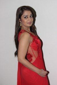 Actress Nikitha in Red Saree Hot Stills
