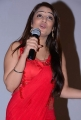 Actress Nikitha in Red Dress @ Terror Press Meet